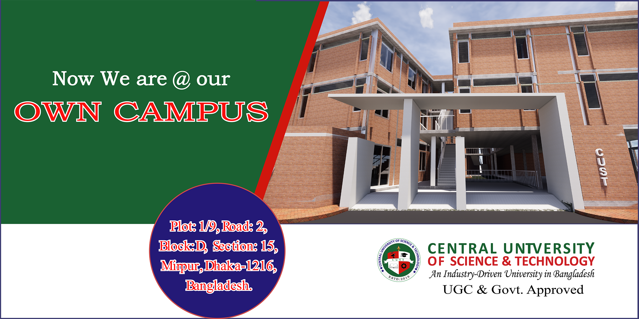 Now we are @ our Own Campus