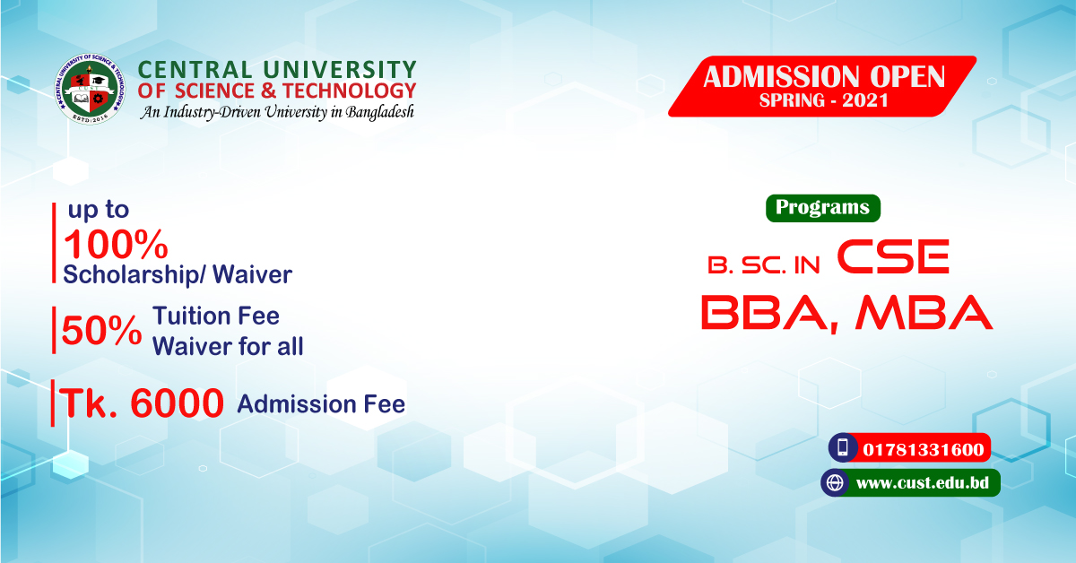 Admission Open Spring 2021